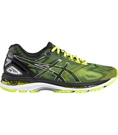 7bb0c6702 ASICS GEL NIMBUS 19 BLACK SAFETY YELLOW SILVER Tenis