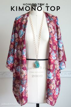 How to sew a cute Kimono Jacket - by Melissa Mortenson of polkadotchair.com