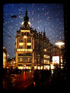 Zurich, Switzerland - Christmas shopping in Bahnhofstrasse