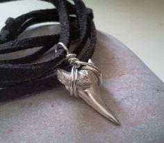 silver shark's tooth necklace by caroline brook | notonthehighstreet.com