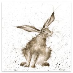 Hannah Dale - Hare Raising, Mounted Art Print. Reminds me of Pigpen from Peanuts.:
