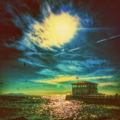 #sea ​​#shore #sky #kadikoy #istanbul #turkey #mobilsanat #mobileart #digitalart #newart