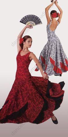 Flamenco Dance Dress, traditionally worn in Spain, as formal dancewear