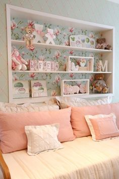 ways to show off your wall art than simply hanging a picture on a blank wall. Personalise plain walls with these fun and fabulous ideas for children's rooms. Baby Bedroom, Baby Room Decor, Dream Bedroom, Girls Bedroom, Bedroom Decor, My Room, Girl Room, Princess Room, Kids Decor