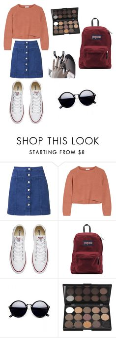 """gg"" by agusmartinezlovaticc ❤ liked on Polyvore featuring Witchery, Brunello Cucinelli, Converse and JanSport"