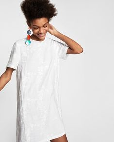 e249953bb33f9 Image 2 of LINEN DRESS WITH FLORAL EMBROIDERY from Zara Zara, Scandinavian  Style, Ubrania