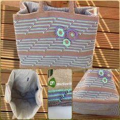 Albert Heijn tas haken 1, gratis patroon, jute tas, omhaken, boodschappentas