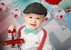 Boys or Mens Bow Tie and Suspenders.  Great for Photo Shoot or wedding.  Or a Baby shower gift!