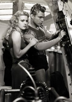 "Buster Crabbe and Jean Rogers in ""Flash Gordon"" (Universal, 1936)"