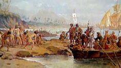 A esquadra comandada por Pedro Álvares Cabral, dirigia-se para a India, mas, pelo caminho, descobriu o Brasil. Esta descoberta é por vezes referida como acidental, mas muitos historiadores discordam.