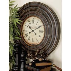 """You'll love the Adelyte 31"""" Wood Wall Clock at Wayfair - Great Deals on all Décor & Pillows products with Free Shipping on most stuff, even the big stuff."""