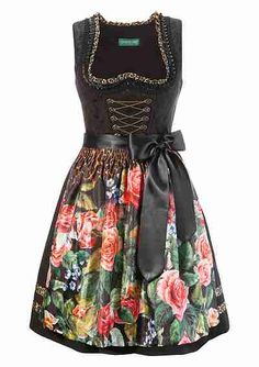 Dirndl midi, inkl. Petticoat, Country Line - schwarz - COUNTRY LINE