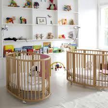 Frankie & Lola love sleeping in their Stokke cribs.