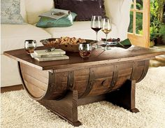 How stunning is this Wine Barrel Coffee table! It will be a feature piece in your home and the envy of all your friends.