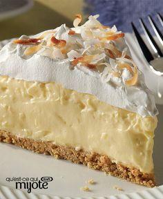 Easy Coconut Cream Pie Recipe Type: Dessert Author: Kraft Make an Easy Coconut Cream Pie with just five ingredients! Prep time for this Easy Coconut Cream Pie is only 15 […] Easy Desserts, Delicious Desserts, Yummy Food, Pie Dessert, Dessert Recipes, Kraft Recipes, Drink Recipes, Kolaci I Torte, Cream Pie Recipes