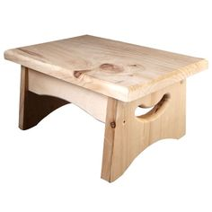 <div>This wood stool is an ideal addition to a kitchen, bathroom, classroom or child's playroom....