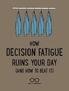 Once you learn how to recognize decision fatigue, you can find ways to simplify your teaching life, take back your energy, and do your job better. Instructional Coaching, Instructional Strategies, Teaching Strategies, Teaching Tips, Teaching Style, Instructional Technology, Teacher Tools, Teacher Hacks, Teacher Resources