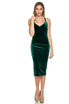 The Spark Green Velvet Bodycon Dress – The Laguna Room