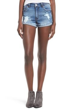 Band of Gypsies Braided High Waist Denim Shorts (Summersalt East) available at #Nordstrom