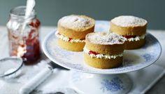 BBC - Food - Recipes : Mini Victoria sponge cakes