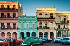 The most colorful cities in the world.  Havana, Cuba