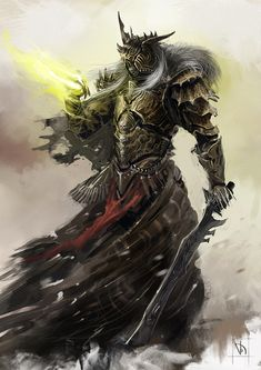 Undead knight necromancer with sword Fantasy Armor, Medieval Fantasy, Dark Fantasy, Armor Concept, Concept Art, Fantasy Creatures, Mythical Creatures, Knight Armor, Orc Armor