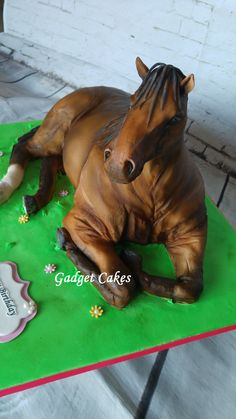 I adore horses and so chuffed when i got to make a horse cake! My airbrish packed up on me halfway through so i had to finish off by handpainting it and so glad i did cause it turned out beautifully xx