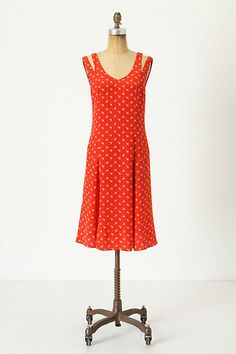 Dot-Wing Dress anthropologie  On Sale Very 1940's