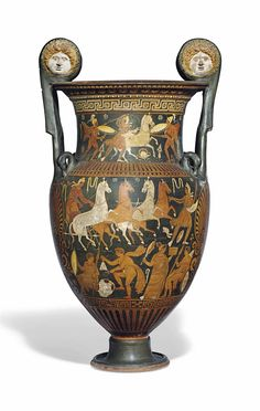 AN APULIAN RED-FIGURED VOLUTE-KRATER - CIRCA MID-4TH CENTURY B.C.