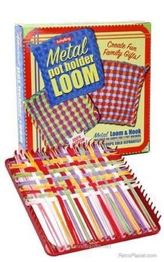 "Metal Pot Holder Loom Kit--still very popular with crafty kids in the age of iPads & Nintendo DS. ""Kids will get into what you get them into."" Ships FREE to New England, NJ, NY & PA! My Childhood Memories, Childhood Toys, Great Memories, 1970s Childhood, School Memories, 1960s Toys, Retro Toys, Vintage Toys 1970s, 1980s"