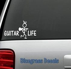 D1065 Guitar Life Vinyl Decal Sticker for Car Truck SUV Van Window Laptop Mac Wall Surface Art Bluegrass Decals $3.99 Surface Art, Guitar Gifts, Car Stickers, Vinyl Decals, Van, Trucks, Laptop, Life, Window