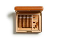 Leather Humidor | Partido No. 214 Chestnut | Ghurka