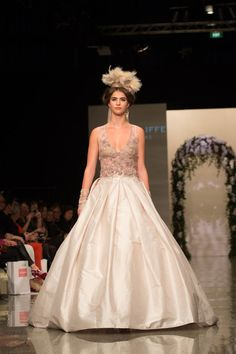 Robyn Cliffe gown - New Zealand Weddings Magazine Collection Show #nzfw #weddings #bridal Photo: Madeleine Page/3 News
