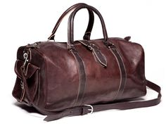 Beautiful Moroccan Genuine Leather Travel Bag by SoukaDesign