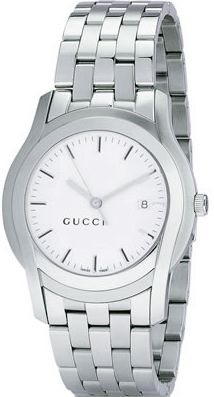 36fe5534c84 Gucci 5505 Silver Dial Polished with Brushed Steel Mens XL Watch BY Gucci