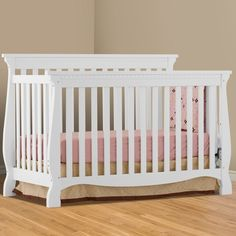 Stork Craft Vittoria 3 In 1 Fixed Side Convertible Crib White Storkcraft Babies R Us Nursery Kid Rooms Pinterest Traditional Crafts And