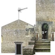 Beniamino Servino. Casa a forma di chiesa in un centro antico italiano/House with the shape of a Church in the ancient section of an italian town. [Based on a photo by Aurora Riviezzo].