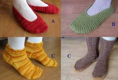 Lots of Slippers. Patterns by Diane Soucy for Knitting Pure & Simple