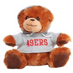 San Francisco 49ers Seated Hoodie Bear - Brown