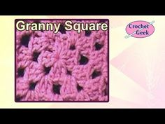 How to Crochet knit ENGLISH Traditional Granny Square 5 Rounds Tutorial #124 Free Online Class Art - YouTube