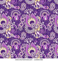 vintage floral seamless paisley pattern by karakotsya, via Shutterstock