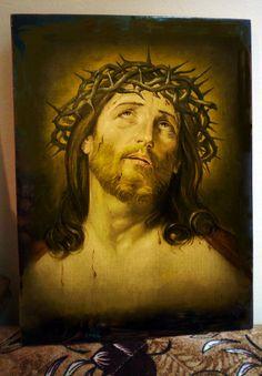 Иисус в терновом венце уникальная икона от Iconikonaikone2014