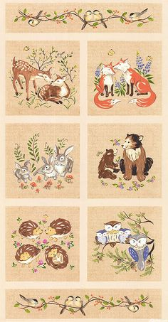 Fabric Idea Woodland Critters Musical Jamboree With
