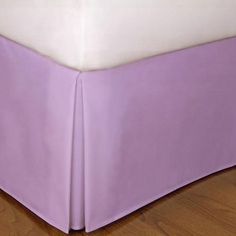 Soft One Bed Skirt 1 Qty Lavender Solid Organic Cotton 1000 Tc (Drop 15'') !!