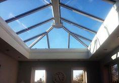 3m x 1.5m Orangery Skylight Roof Lantern - uPVC Clad Aluminium Glass Roof | eBay