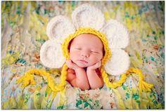 Newborn Baby Girl Photo Prop Daisy Hat. $28.00, via Etsy.