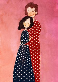 by Nancy Zhang Mother Daughter Art, Mother Art, Mother And Child, Family Illustration, Portrait Illustration, Graphic Design Illustration, Principe William Y Kate, Mode Poster, Anime Muslim