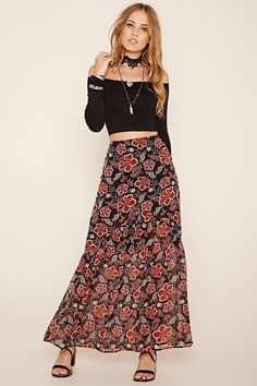Floral Print Tiered Skirt | Forever 21 - 2000237098