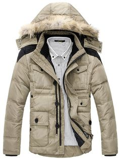 Stylish Zipper Closure Coat for Male NMD-130870 - TinyDeal