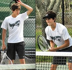 John. Luke. Robertson. plays tennis, its meant to be!